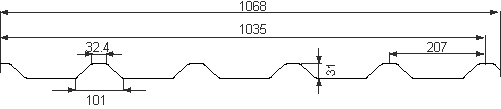 plan 233 - 207/35 Arcelor 1068