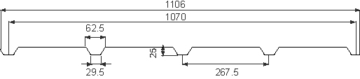 plan 105 - Nervuré 25/1070B